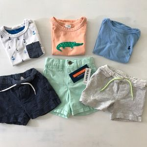 Ralph Lauren and More! Shorts T-Shirts 6Pc 12-18M